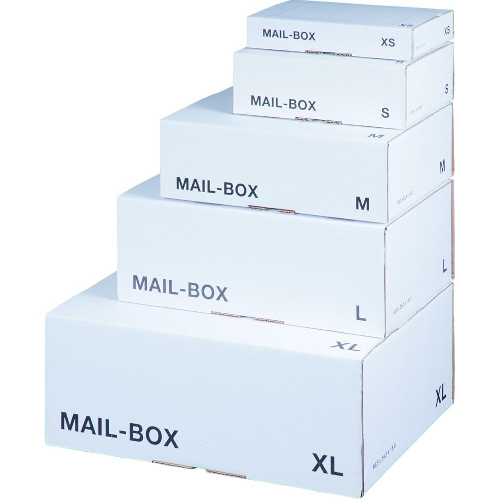 LSM White Mailing Box  395x255x140mm Size L White PK20