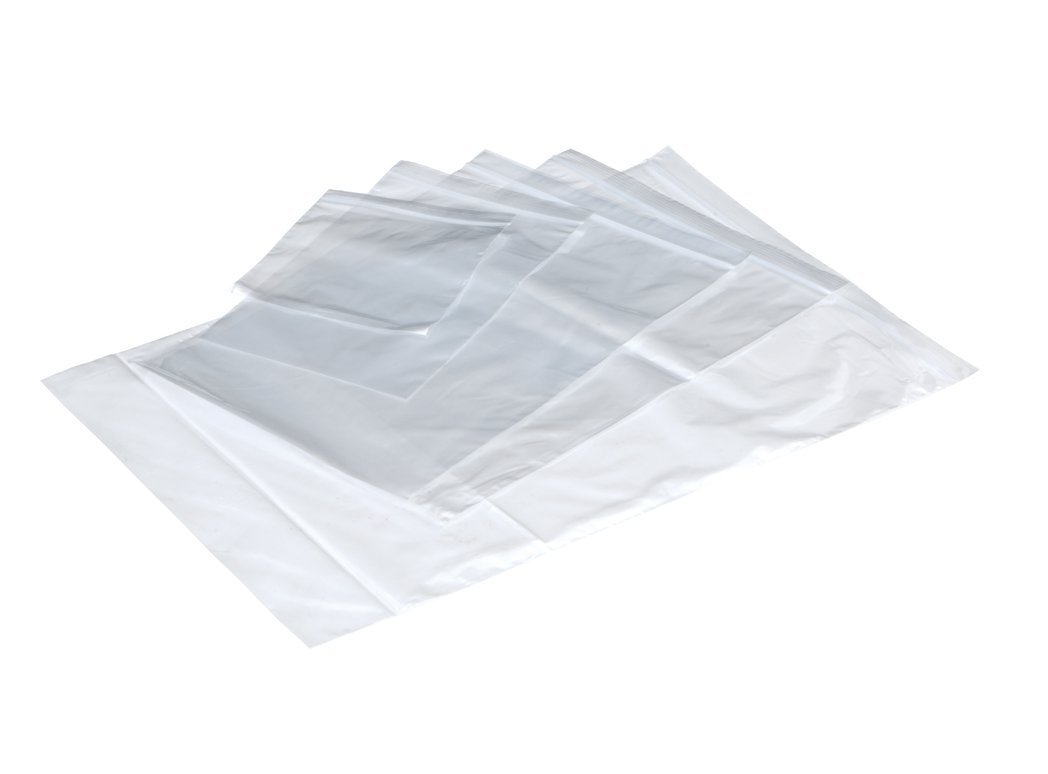 Plain grp Bags 230x325mm Clr PK1000