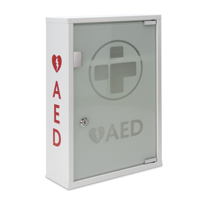 AED Alarmed Metal Cbnet Lckble