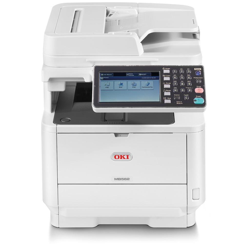Laser Printers Oki MB562DNW A4 Mono Laser MFP