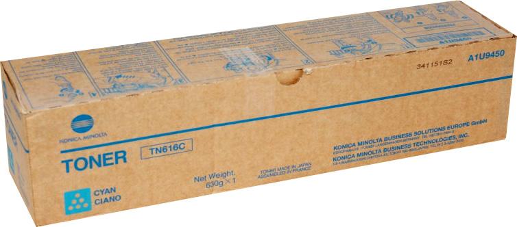 Laser Toner Cartridges Konica Minolta A1U9453 TN616C Cyan Toner 41.8K