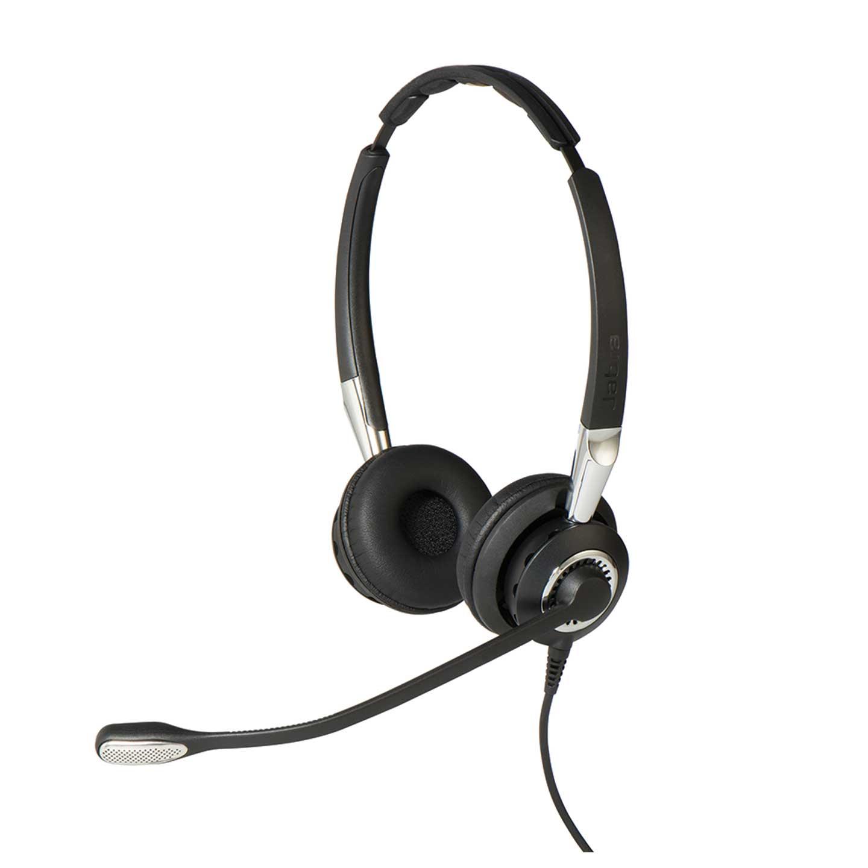 Jabra BIZ 2400 II Duo Headset with Noise-Cancelling Microphone Black/Grey Ref 2409-820-204