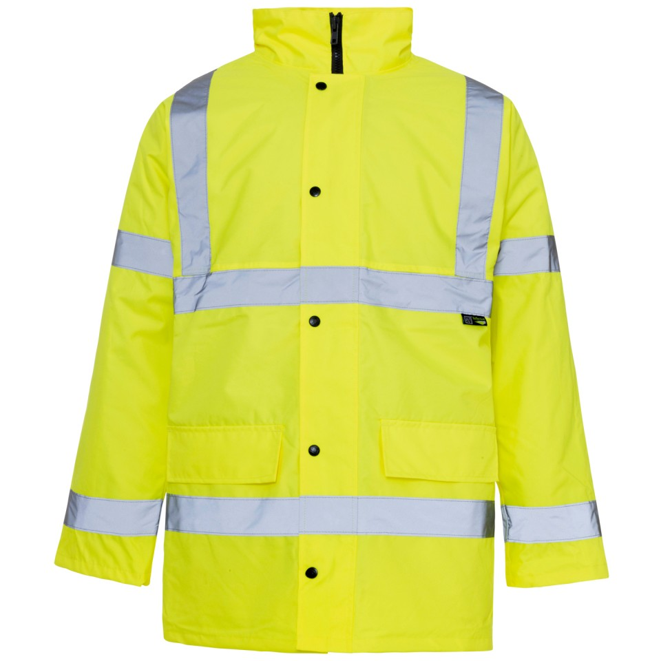 ST High Visibility Standard Parka with 2-Way Zip Fastening Small Yellow Ref 35421 Approx 3 Day Leadtime