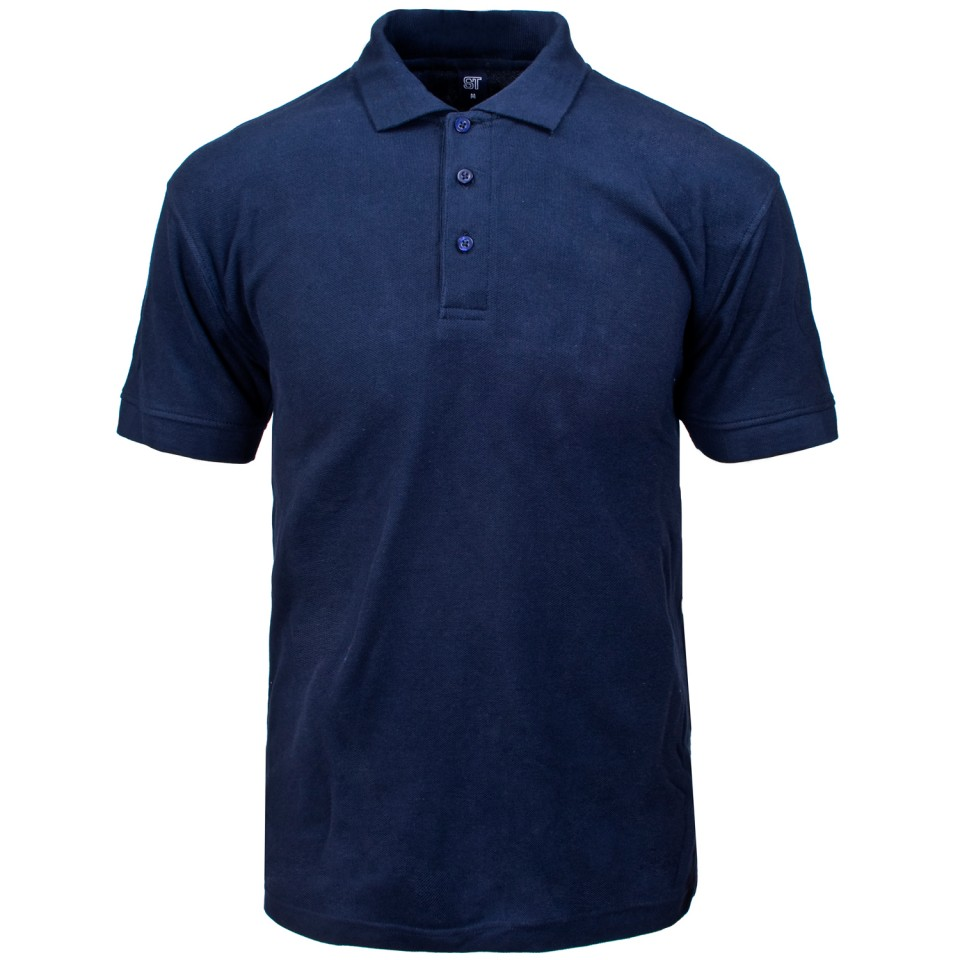Supertouch Polo Shirt Classic Polycotton Medium Navy Ref 56CN2 Approx 3 Day Leadtime