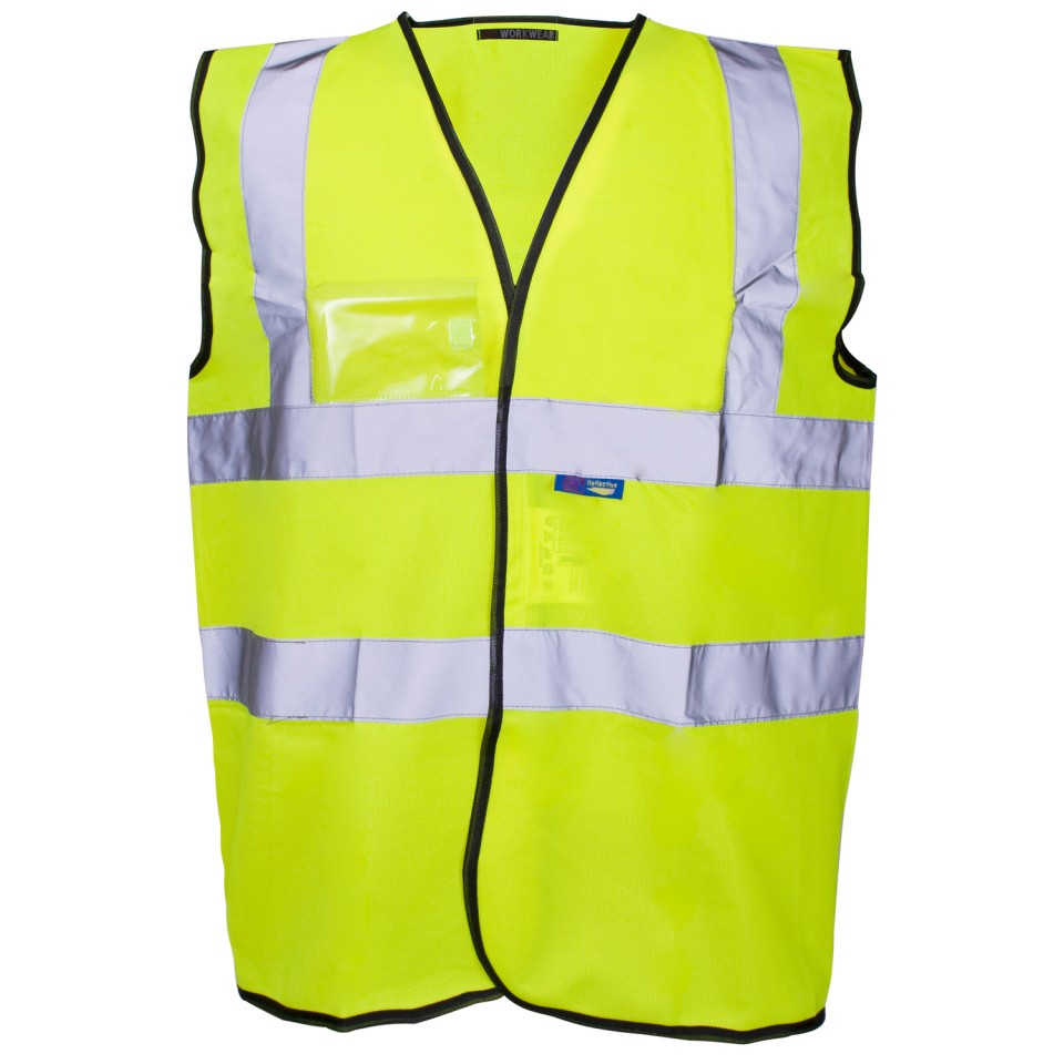 Supertouch High Visibility Vest with Black Binding Small Yellow Ref 35241 Approx 3 Day Leadtime