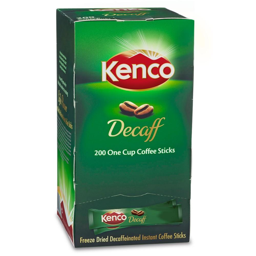 Coffee Kenco Decaffeinated Freeze Dried Instant Coffee Sticks 1.8g PK200