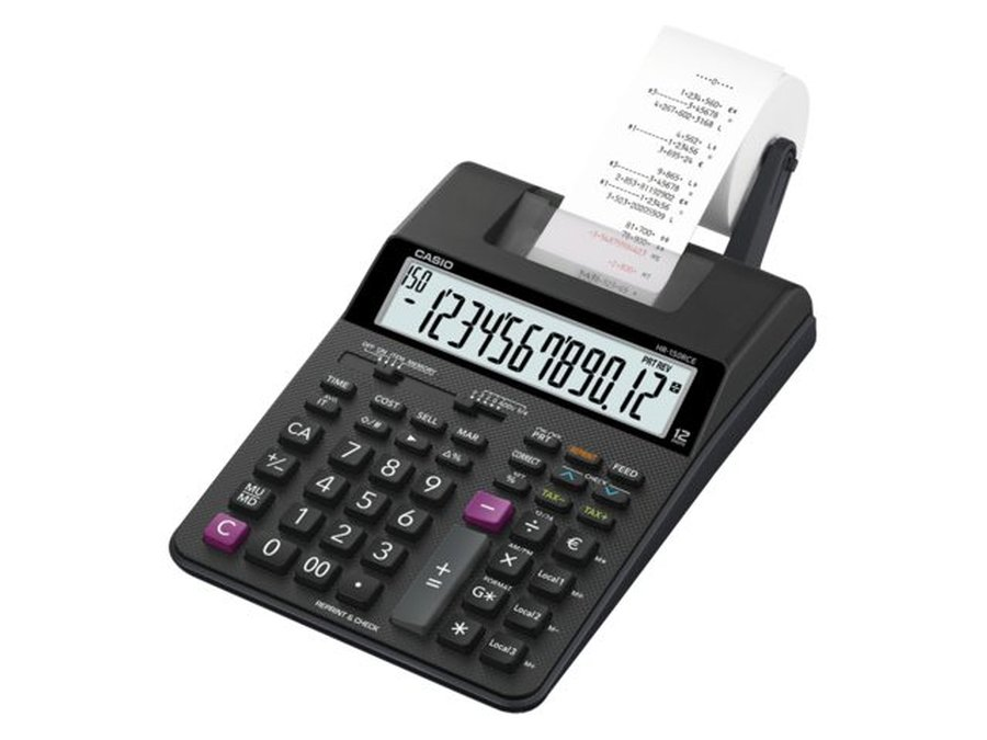 Printing Calculator Casio HR-150RCE Printing Desktop Calculator Black