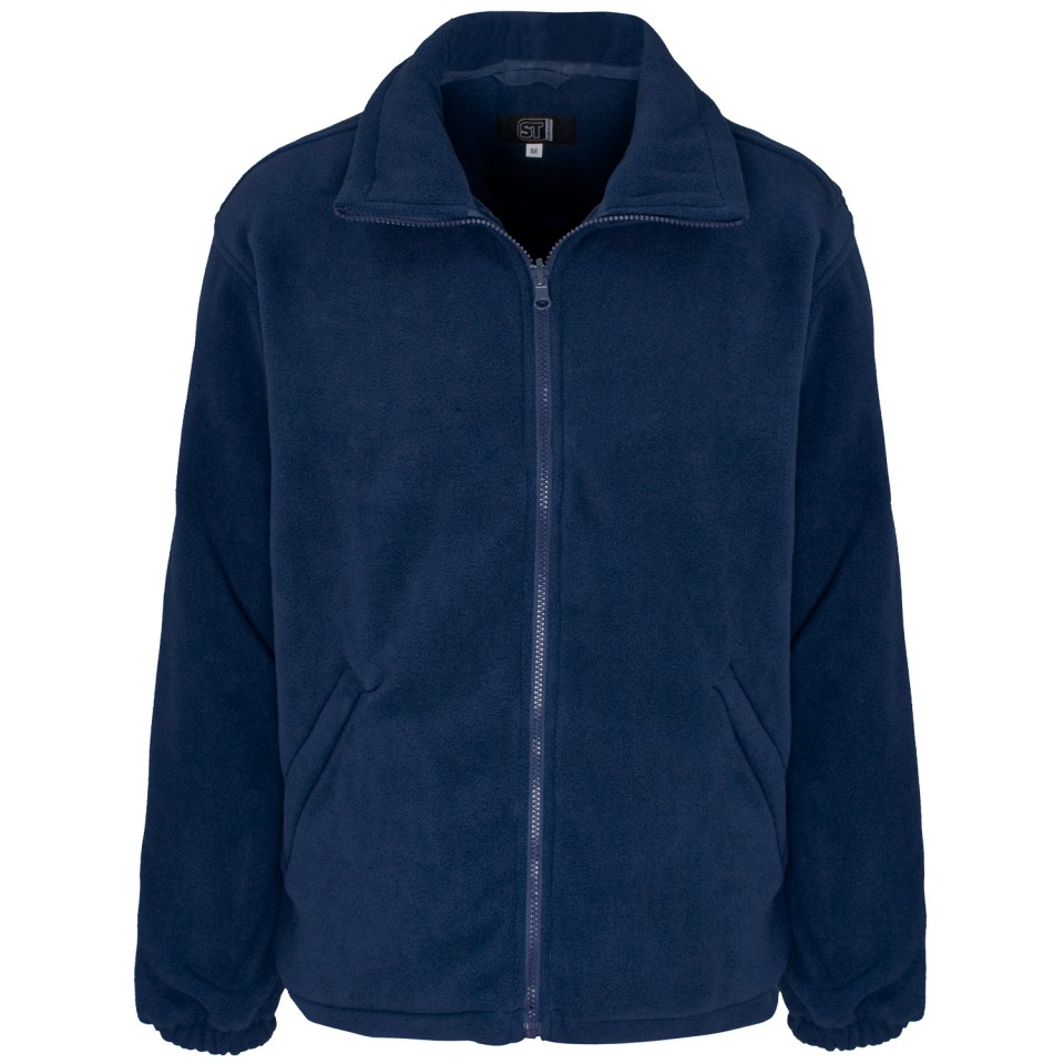 ST Basic Fleece Jacket Elasticated Cuffs and Full Zip Front Med Navy Ref 59092 Approx 3 Day Leadtime