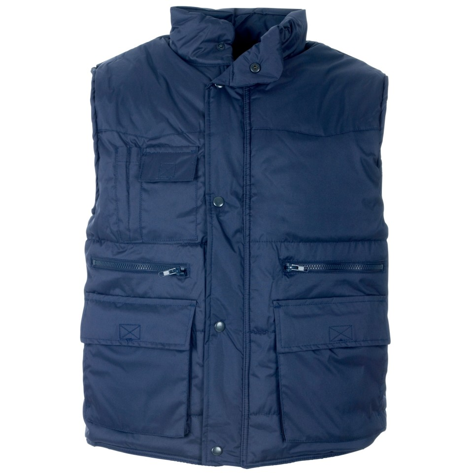ST Body Warmer Polyester with Padding & Multi Pockets Small Navy Ref 58691 Approx 3 Day Leadtime