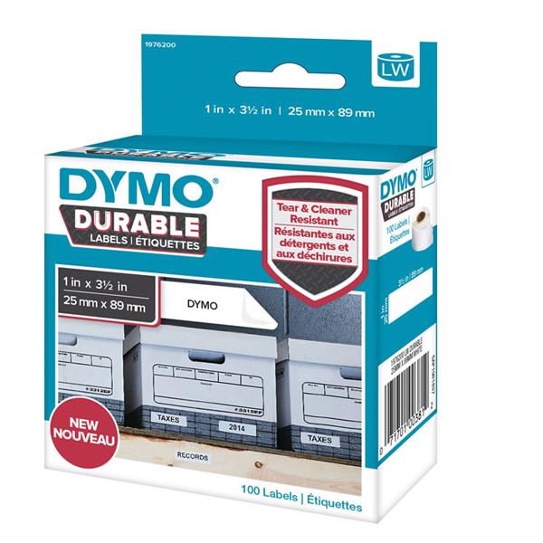 DYMO LW Drble 25X89 WT Poly PK100