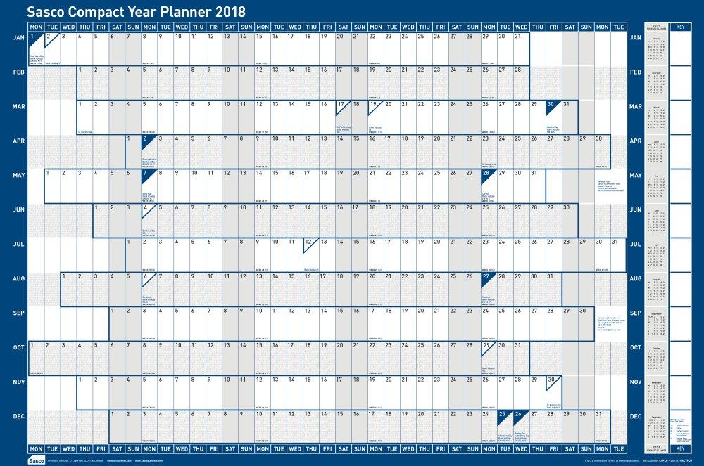 Sasco Compact Year Plannr Landscape 2018 2401864