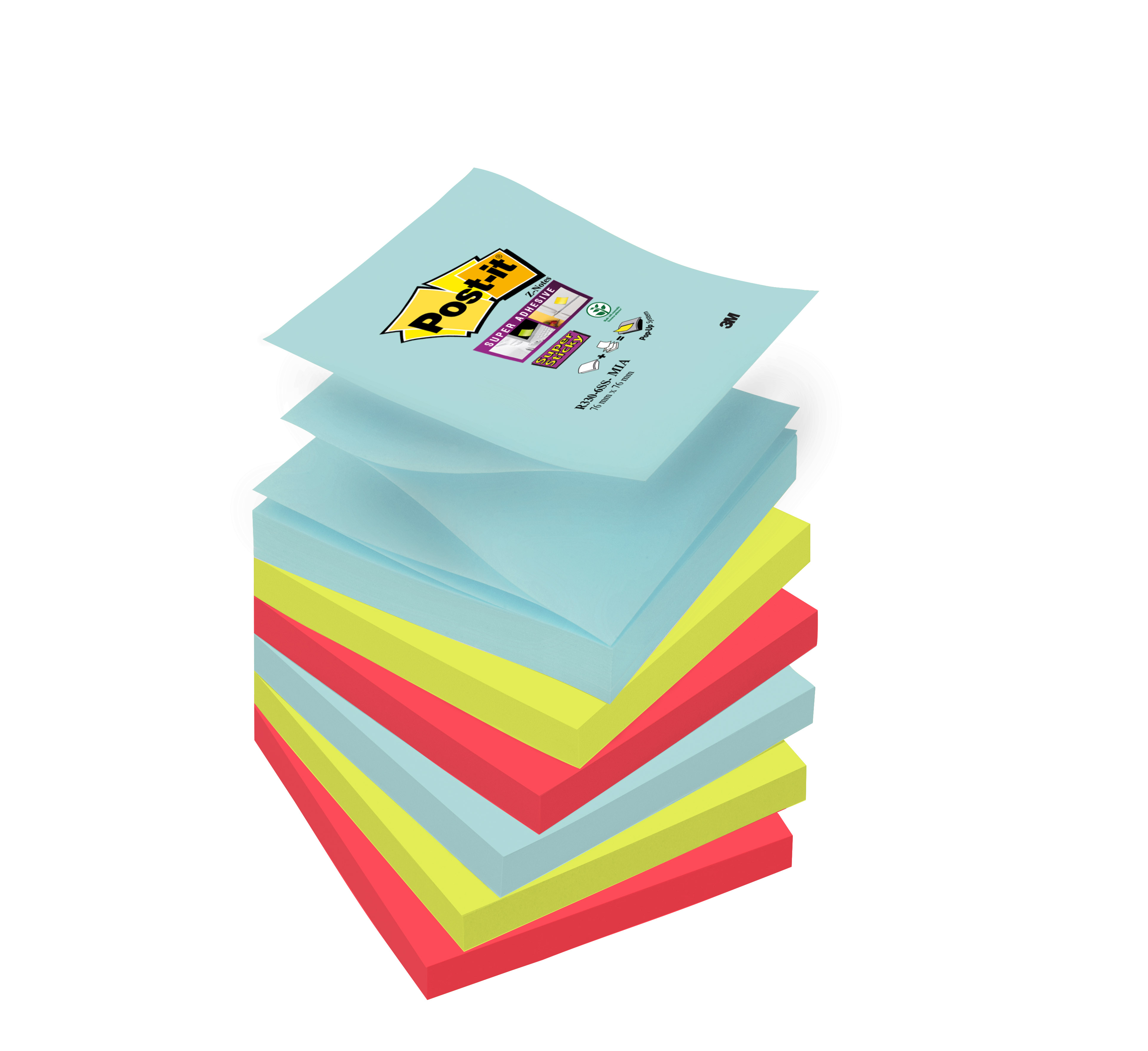 Post-It SS Miami Znotes 76x76mm PK6