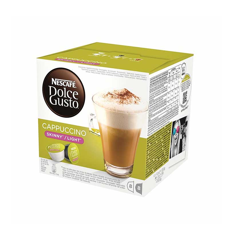 Nescafe Dolce Gusto Skinny Cappuccino 16 capsules (Pack 3)