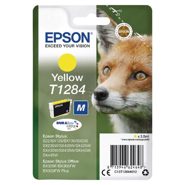 Epson T1284 Yellow Inkjet Cartridge C13T12844012