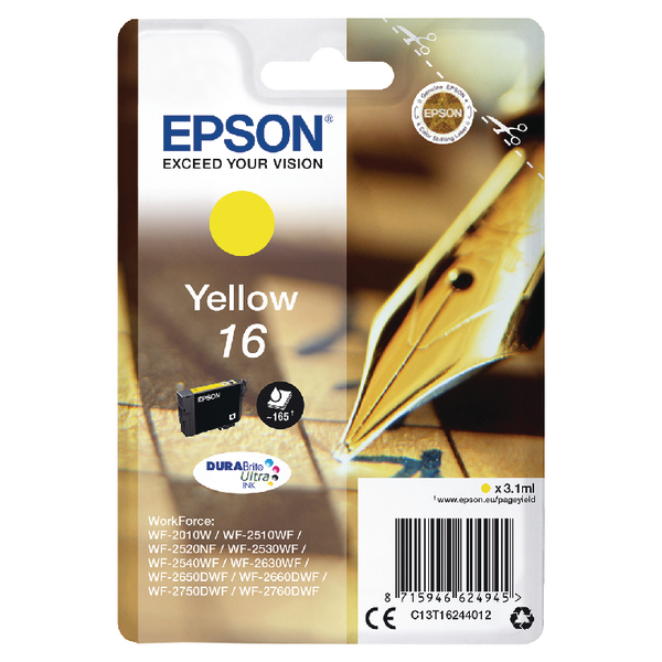 Epson 16 Yellow Inkjet Cartridge