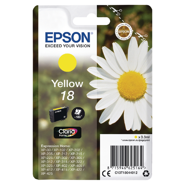 Epson Claria 18 Ink Yell C13T18044012