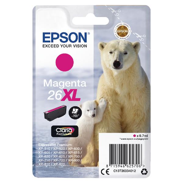 Epson 26XL Ink Cart Magenta T26334012