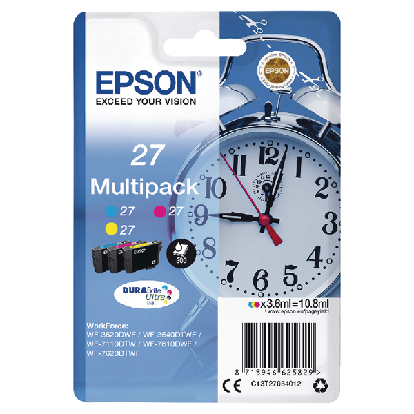 Epson No27 IJCart PK3 C/M/Y C13T27054012
