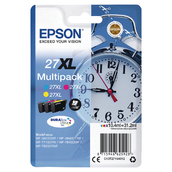 Epson 27XL 3Col Pk Ink Cart C13T27154012