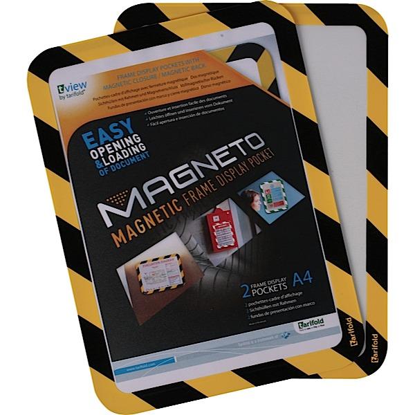 A4 Safety Frames Magnetic BK/YL PK2