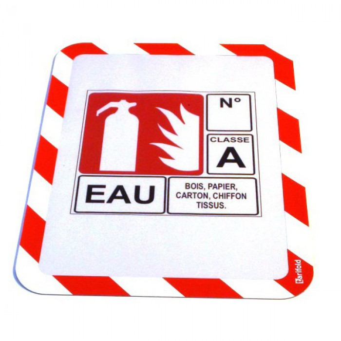 A4 Safety Frames Adhesive RD/WT PK2