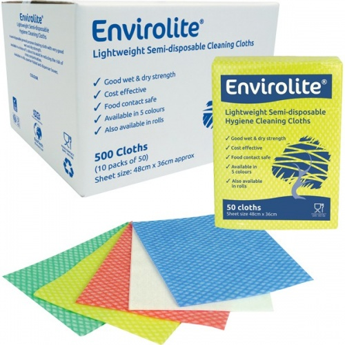 Envirolite Folded Cleaning Cloth Large (48x36cm) Red PK50