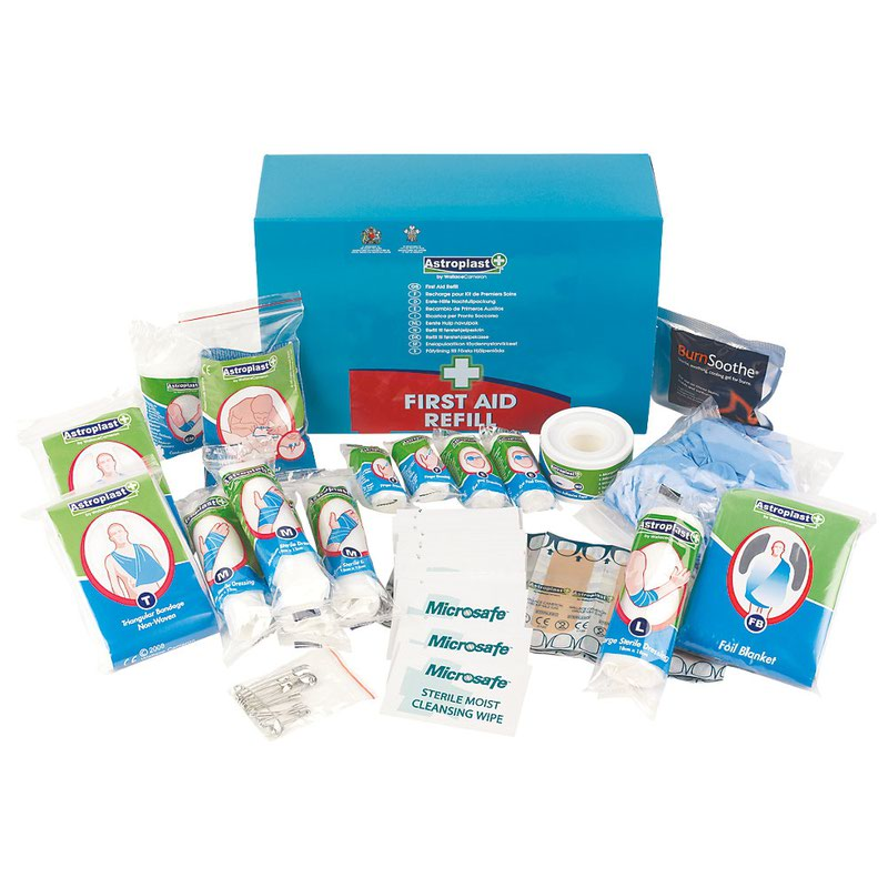 Astroplast First Aid Kit Refill 10 person Aqua