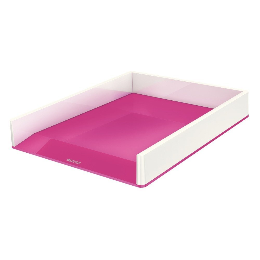 Leitz WOW Duo Colour Letter Tray A4 Pink 53611023 (PK1)