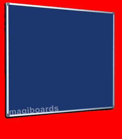 Magiboards Slim Frame Blue Felt Noticeboard Aluminium Frame 2400x1200mm
