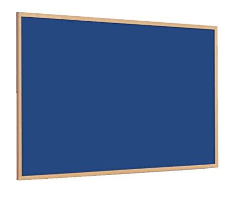 Magiboards Slim Frame Blue Felt Noticeboard Wood Frame 1800x1200mm