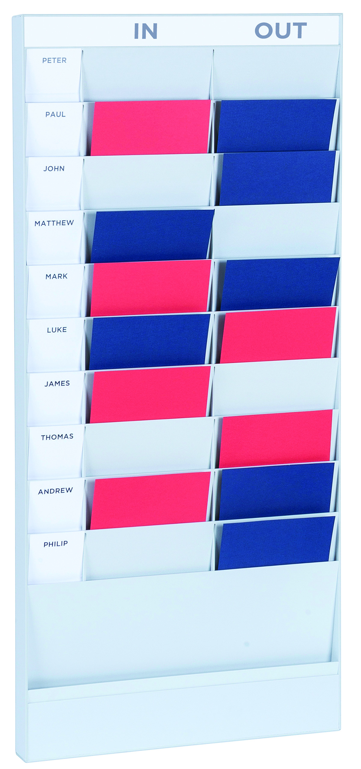 Literature Holders Fast Paper A4 20 Compartment Document Planner Starter Set