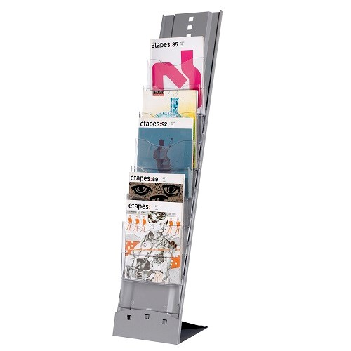 Literature Holders Fast Paper A4 Portable Display 7 Compartments