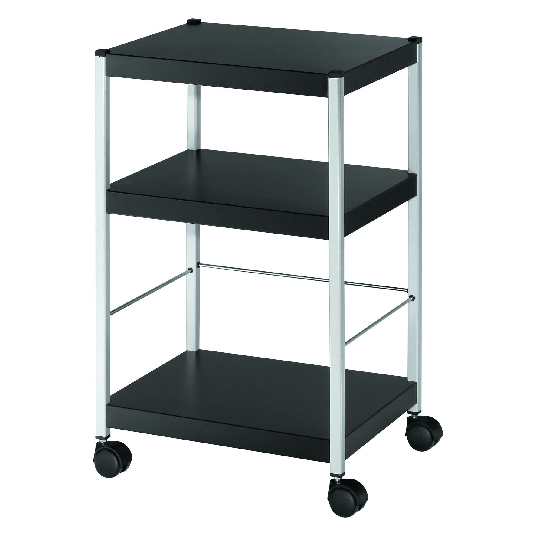 Filing Fast Paper Mobile 3 Shelf Trolley Small