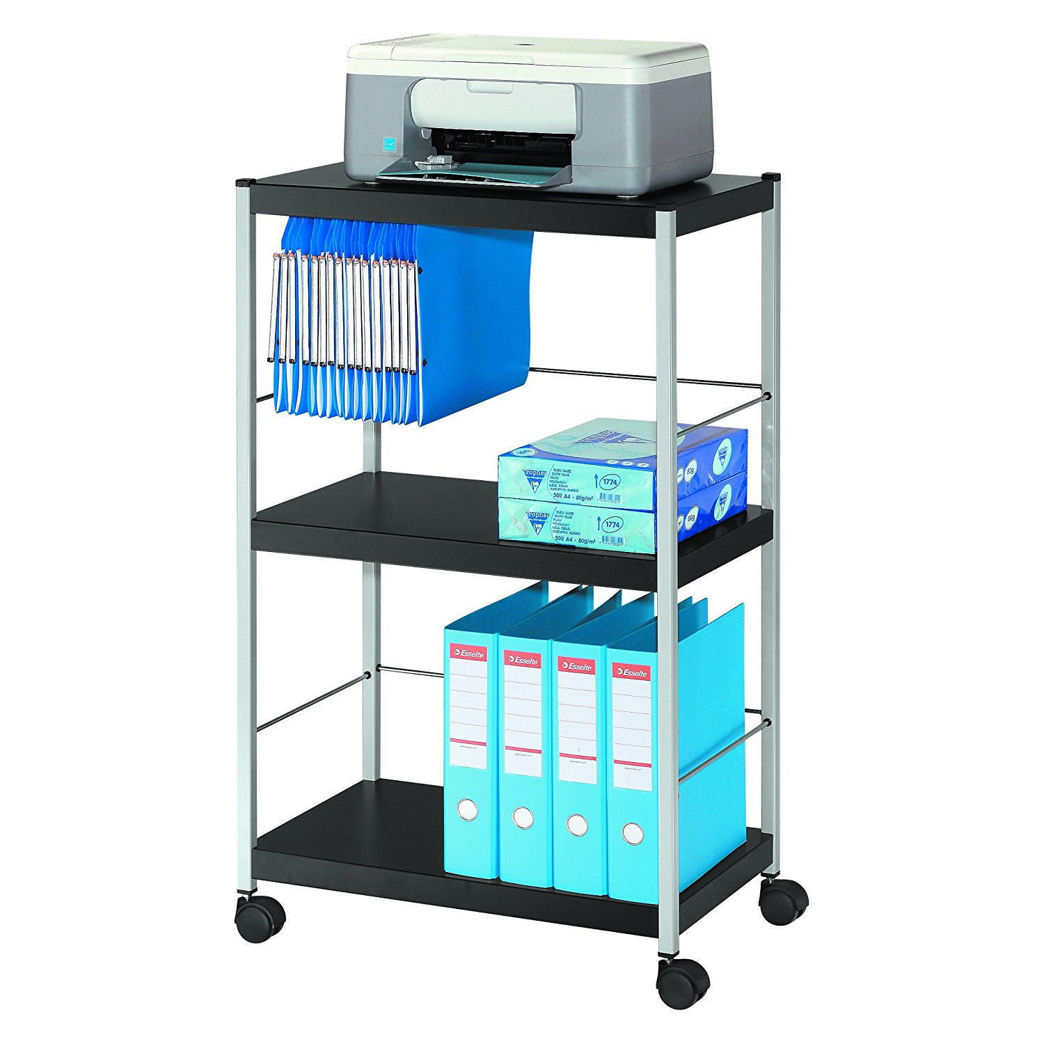Mobile 3 Shelf Trolley Large