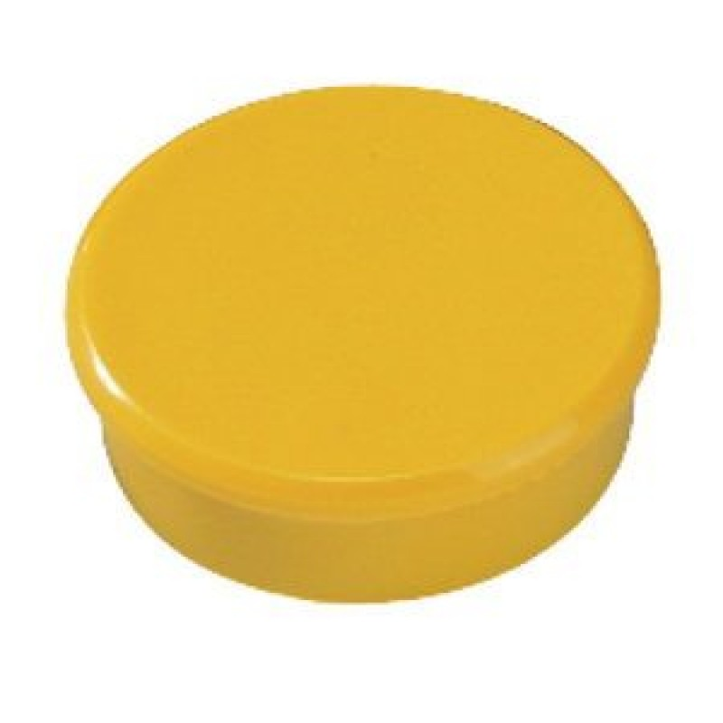 Magnets Bi-Office Round Magnets 10mm Yellow PK10