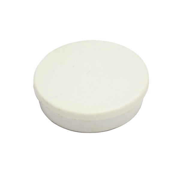 Magnets Bi-Office Round Magnets 10mm White PK10