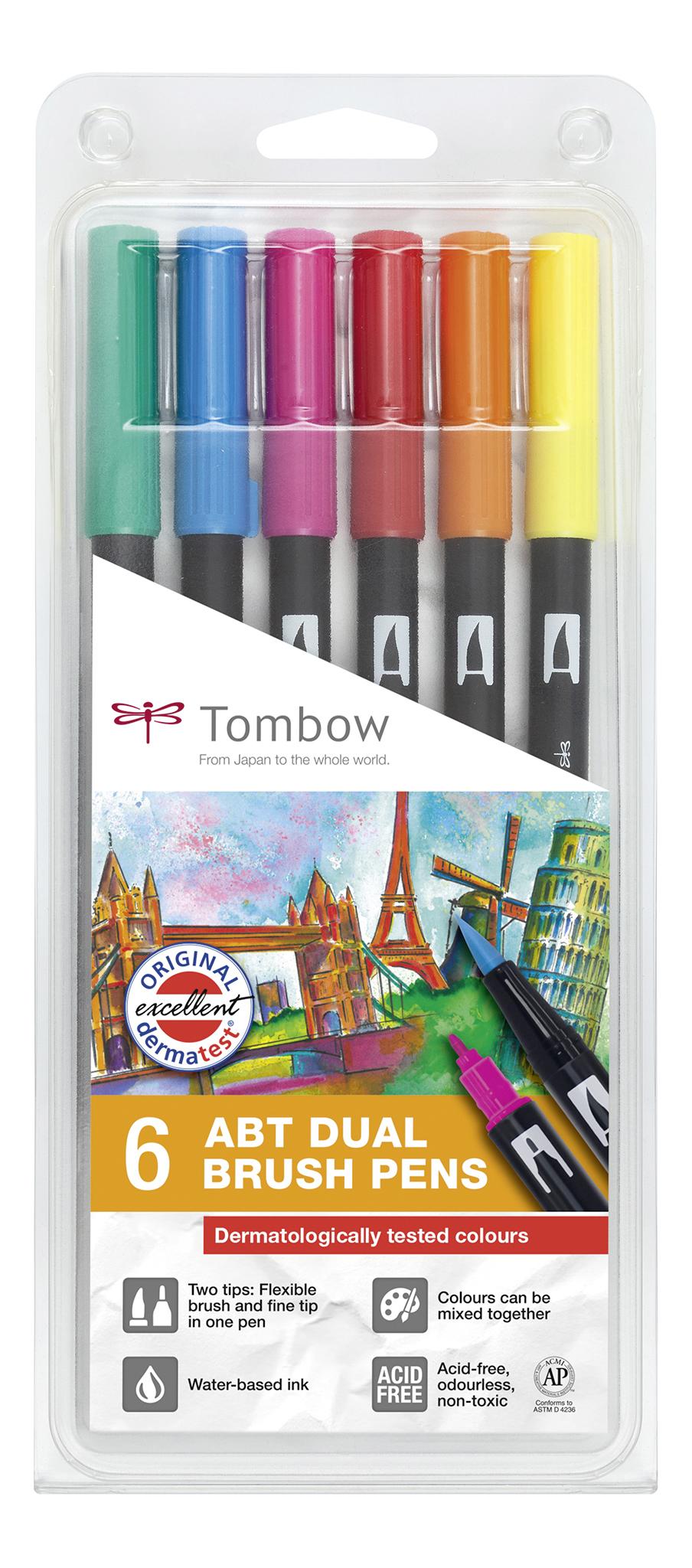 ABT Dual Brush Pen Drmatlgical PK6