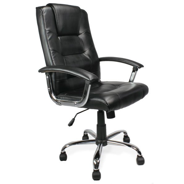 Hi Back Leather Exec Armchair BK