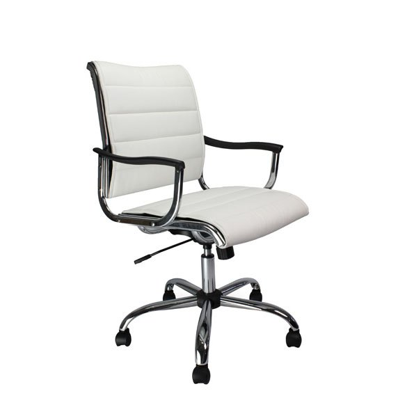 Cantilever Leather Effct Chair WT