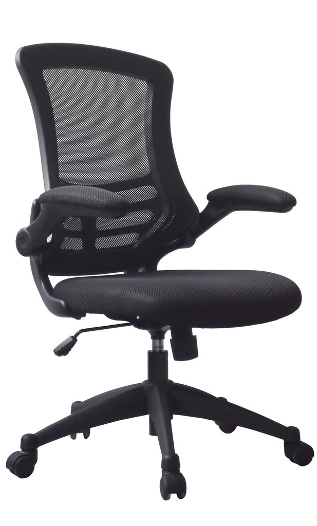 Luna Medium Back Mesh Chair Black