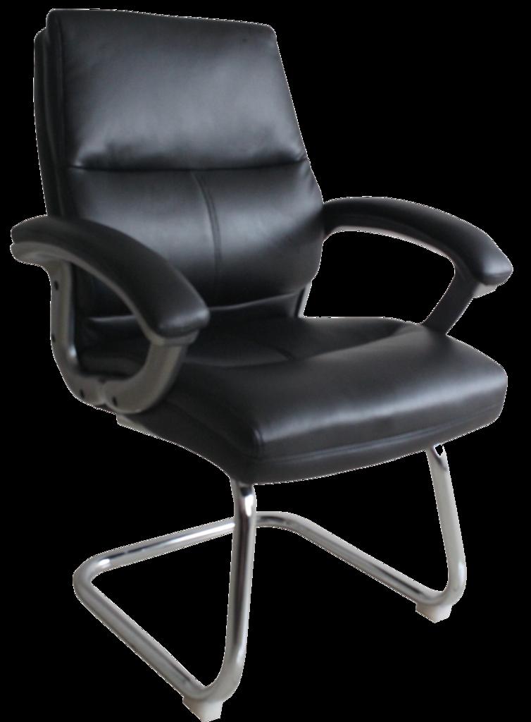 Gnwich Pu Visitors Chair BK