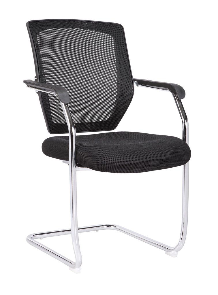Med Back Mesh Cantilever Chair BK