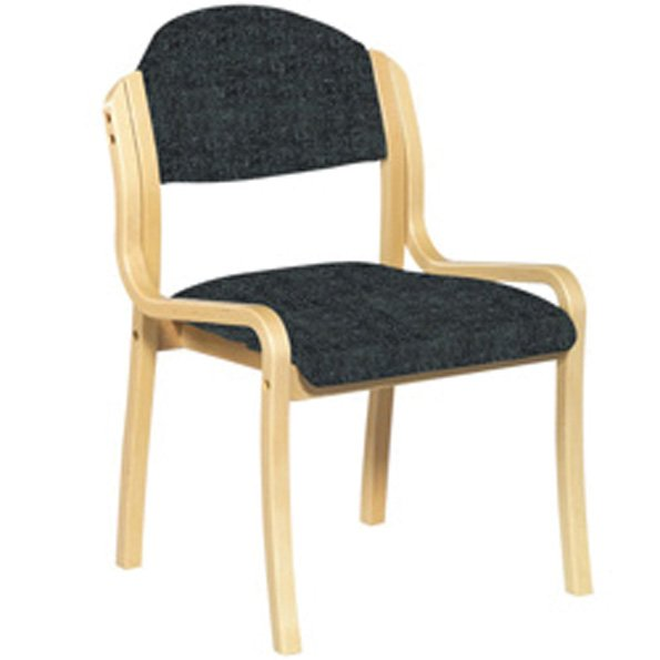 Wood Framed Stackable Side Chair BK
