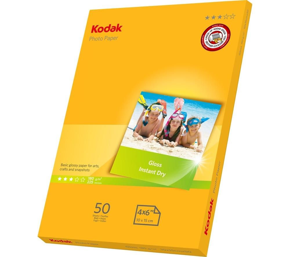 Photo Paper Kodak 5740506 Gloss Paper A6 50 Sheets
