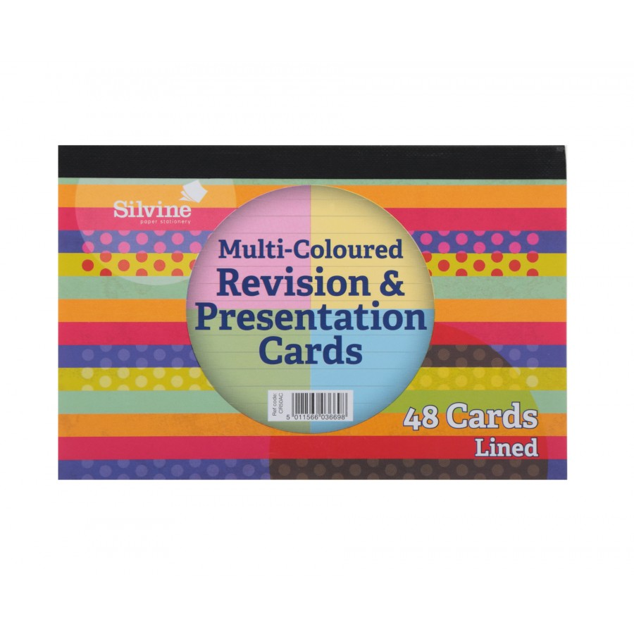 Silvine Revision Cards Asst PK48
