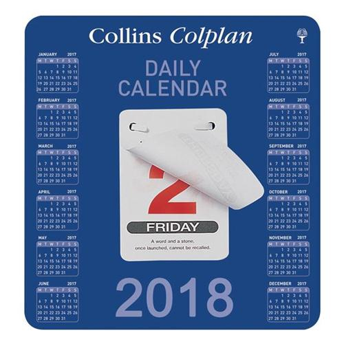 Collins 2018 Daily Block Calendar CDBC
