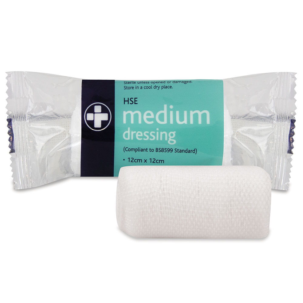 Reliance Medical HSE Dressing Medium 120x120mm (Pack 10)