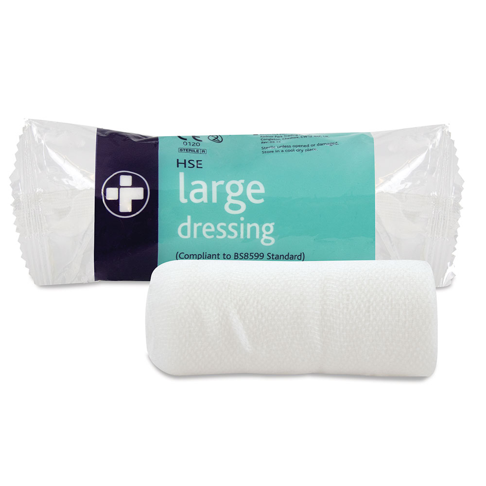 Reliance Medical HSE Dressing Large 180x180mm (Pack 10)