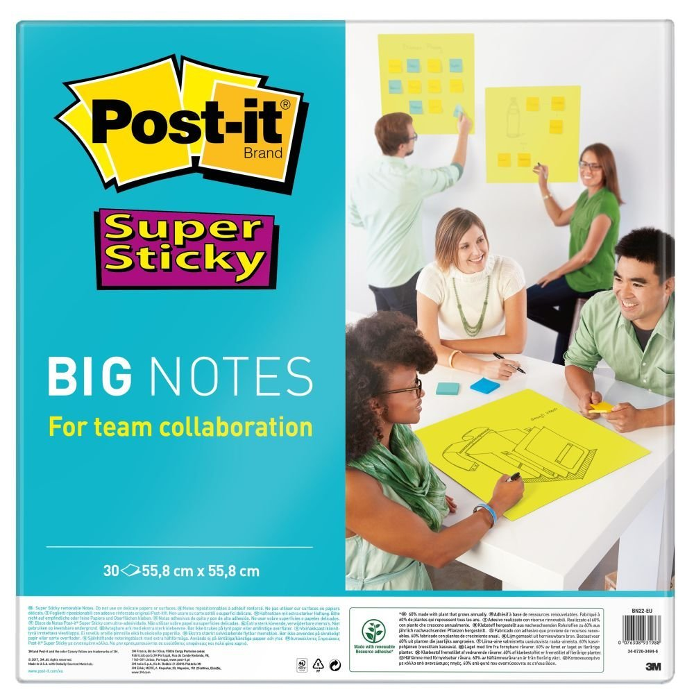 Post-it Super Sticky Big Notes 30Sh 558 x 558mm Neon Green