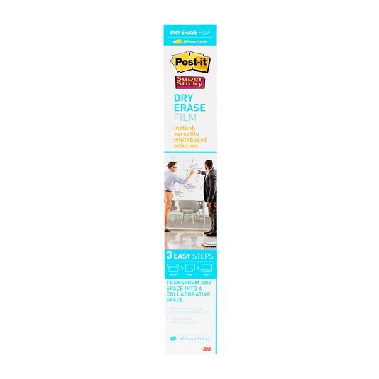 Post-it Super Sticky Dry Erase Film Roll 0.609 x 0.914m